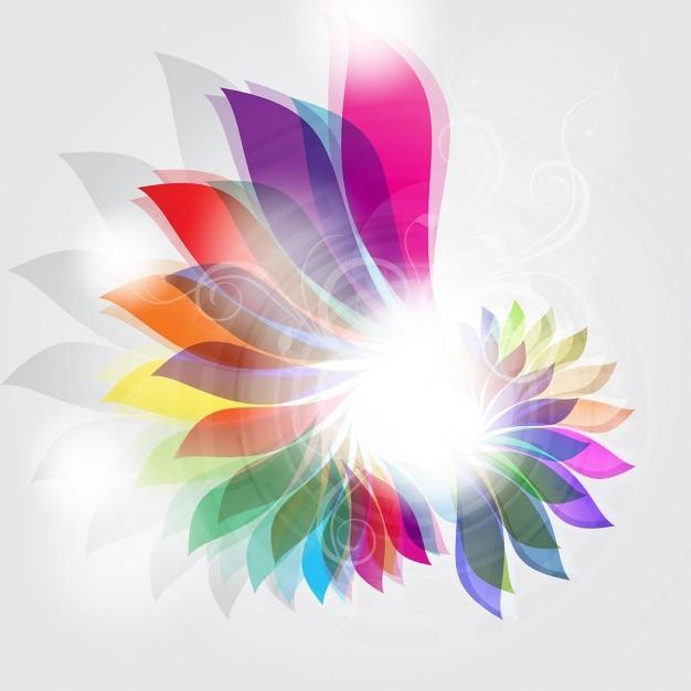 Fondo decorativo con un dise o floral abstracto for Abstract salon of the arts