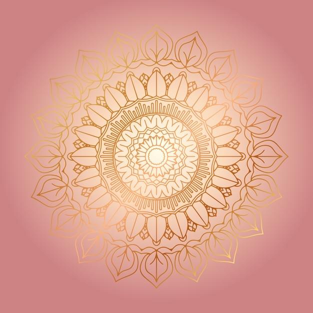 Fondo decorativo con diseño de mandala dorado vector gratuito