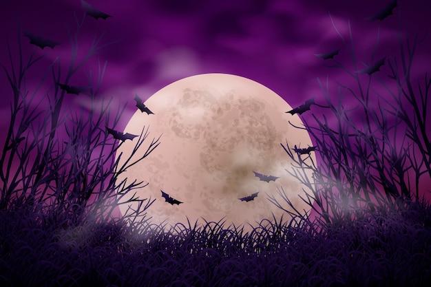 Fondo decorativo de halloween vector gratuito