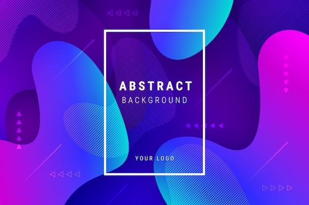 Fondo degradado abstracto con formas fluidas vector gratuito