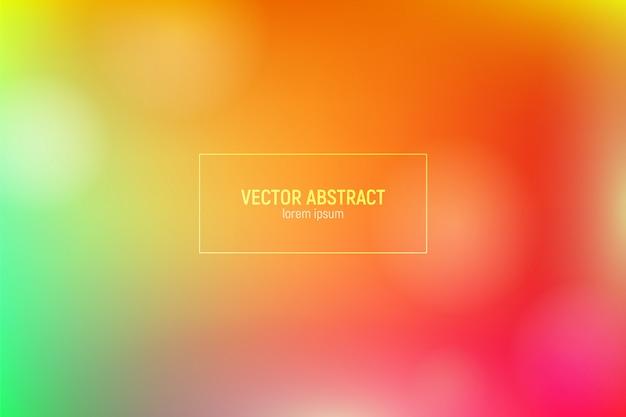 Fondo con degradado amarillo, rojo y verde. Vector Premium