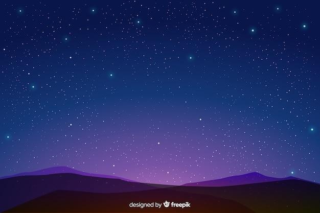Fondo degradado azul noche estrellada vector gratuito