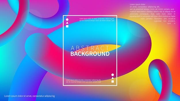 Fondo degradado fluido abstracto con estilo de movimiento dinámico geométrico moderno. fondo líquido de moda. Vector Premium