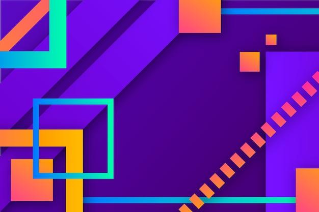 Fondo degradado con formas geométricas vector gratuito