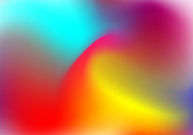 Fondo degradado de plástico con lámina holográfica. Vector Premium