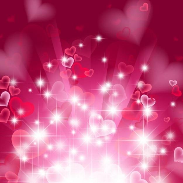 fondo del corazón abstracta en color rosa | Descargar Vectores gratis