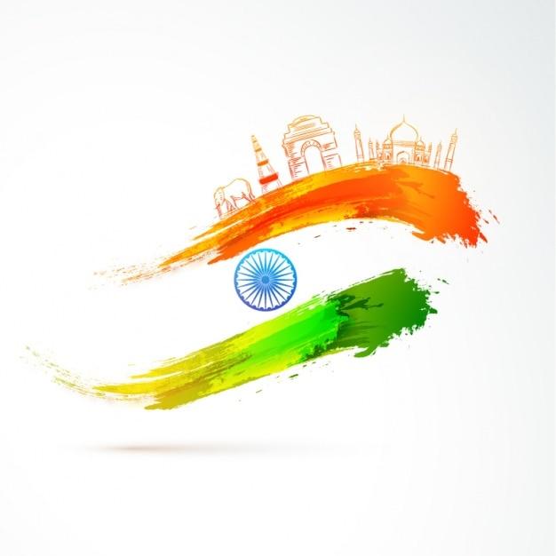Fondo del día de la república india con bandera abstracta y ...