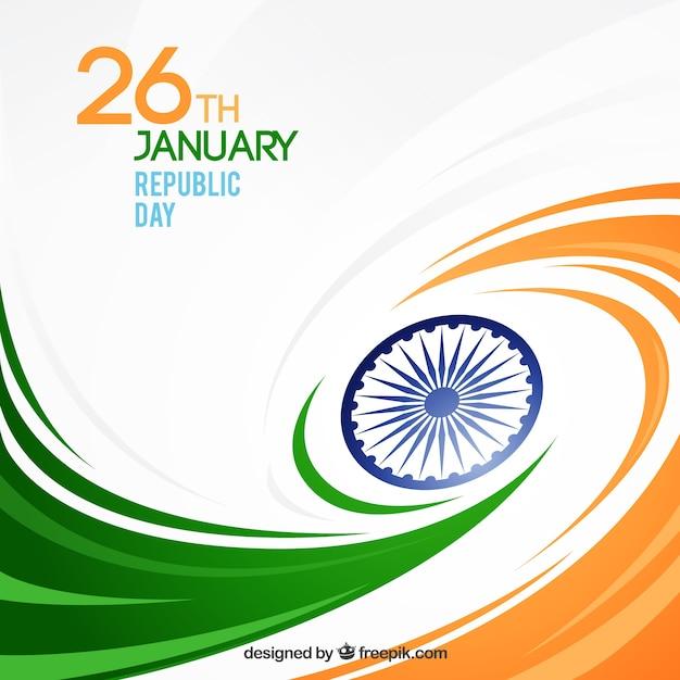 Fondo del día de la república india con formas onduladas | Descargar ...
