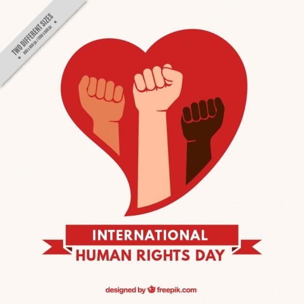 Fondo del día internacional de los derechos humanos con corazón ...