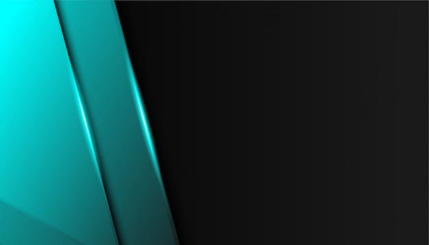 Fondo de deporte moderno de líneas azules brillantes de lujo Vector Premium