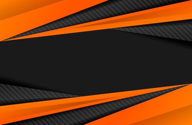 Fondo deportivo abstracto naranja Vector Premium