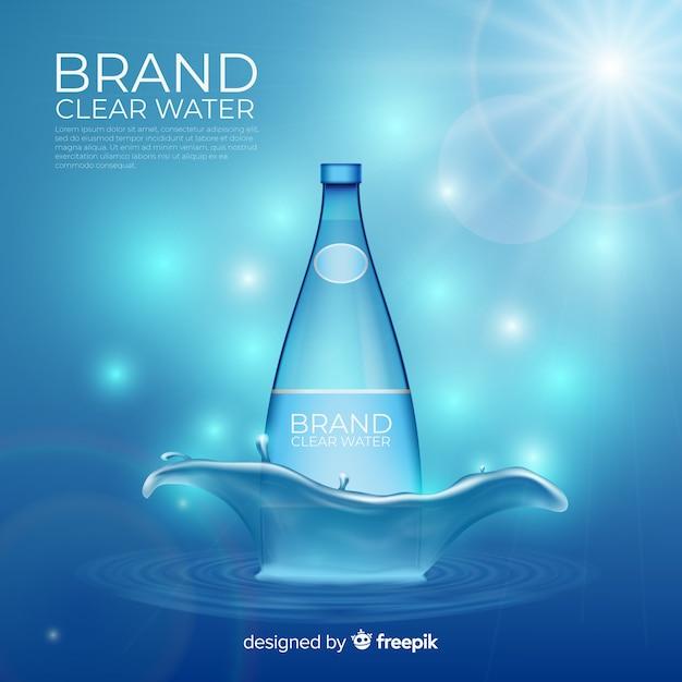 Fondo desenfocado de anuncio de agua mineral vector gratuito