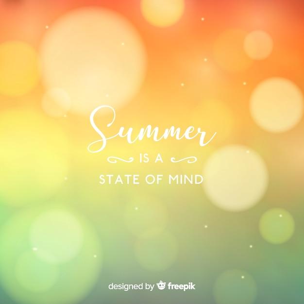 Fondo desenfocado de verano vector gratuito