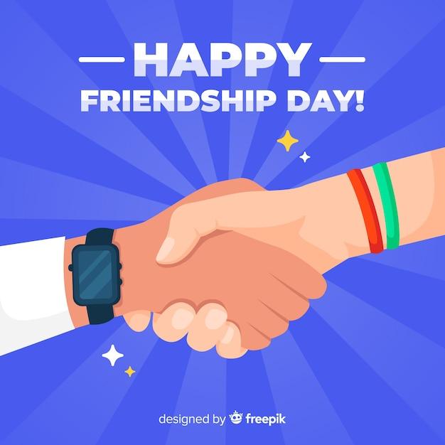 Fondo día de la amistad diseño plano vector gratuito