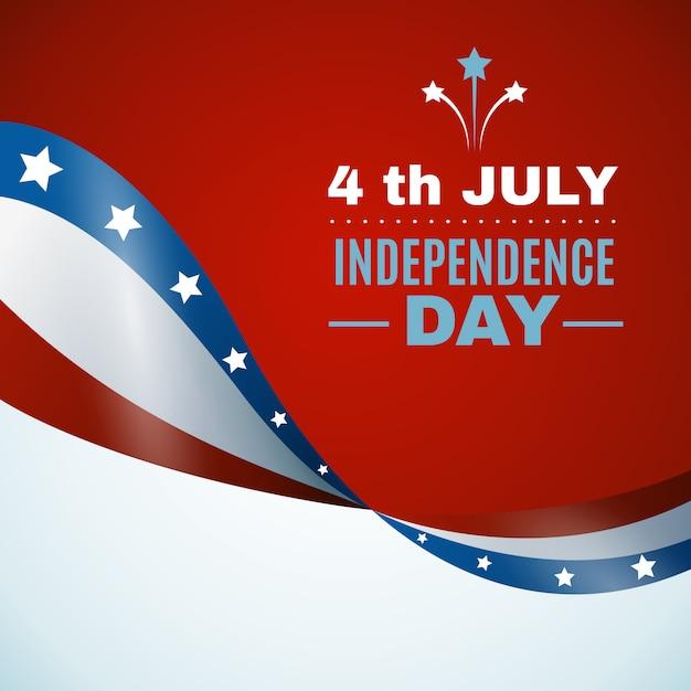 Fondo del día de la independencia de estados unidos vector gratuito