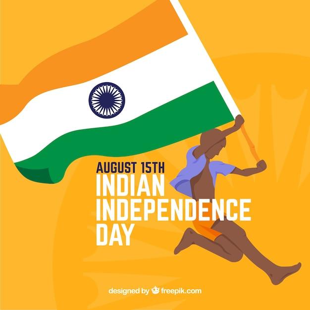 Fondo del día de la independencia de india vector gratuito
