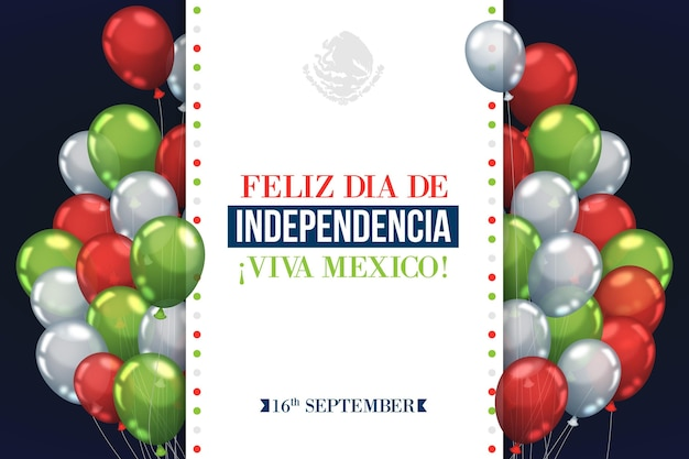 Fondo del día de la independencia de méxico vector gratuito