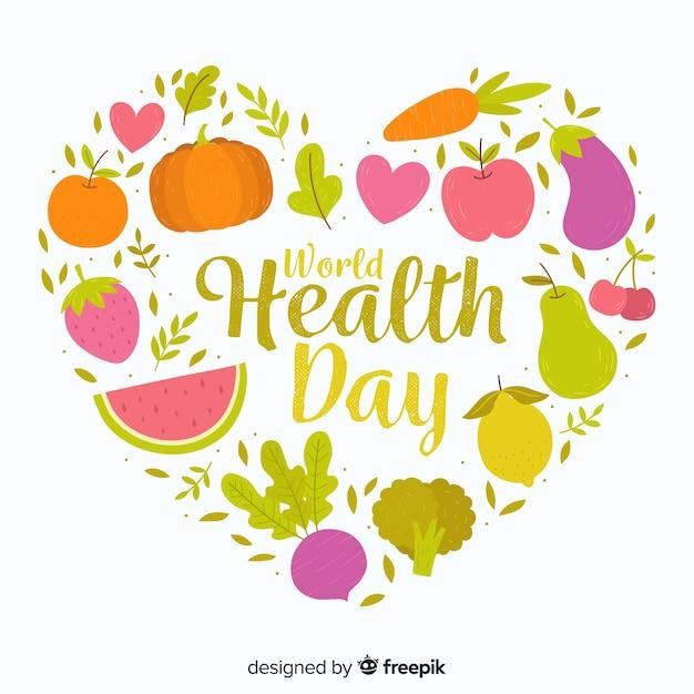 Fondo del día internacional de la salud vector gratuito