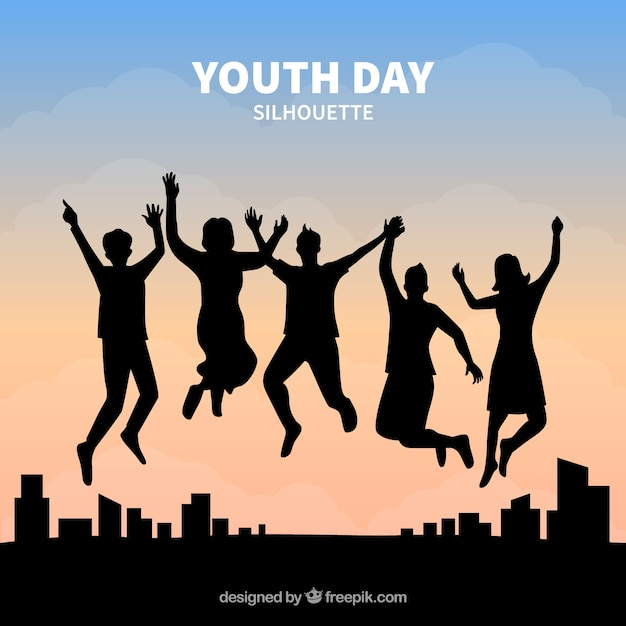 Fondo del día de la juventud Vector Premium
