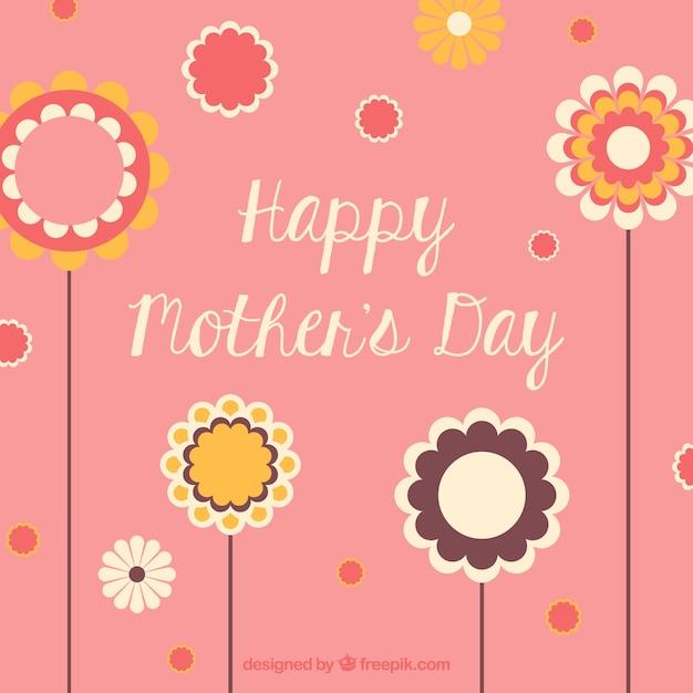 fondo día de la madre con flores descargar vectores gratis