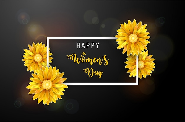 Fondo del día de la mujer Vector Premium
