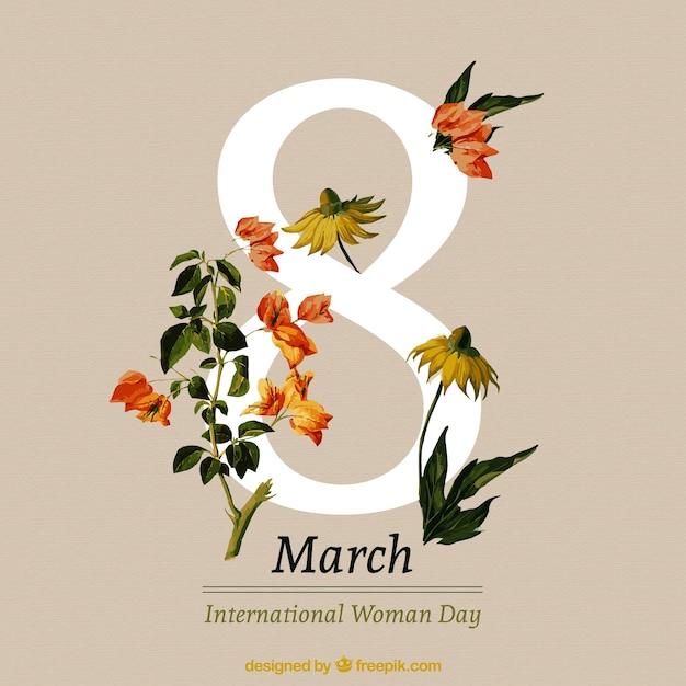 Fondo Del Día De Las Mujeres De Flores Realistas Bonitas Descargar