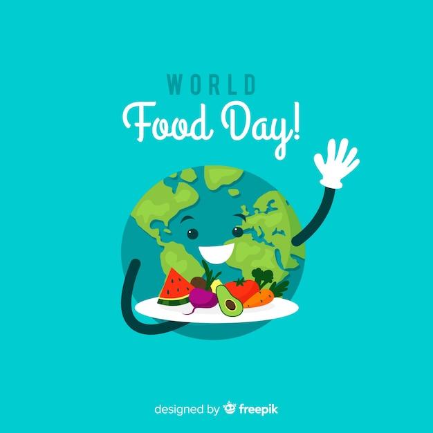 Fondo del día mundial de la comida con tierra vector gratuito