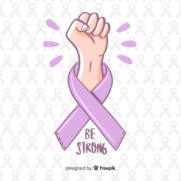 Fondo del día mundial contra el cáncer vector gratuito