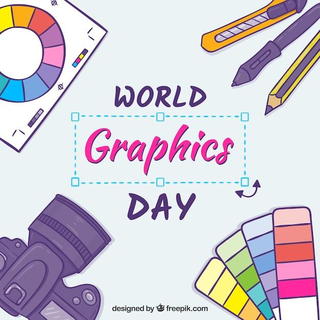 Fondo de día mundial de los gráficos vector gratuito