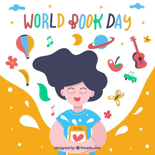 Fondo del día mundial del libro vector gratuito