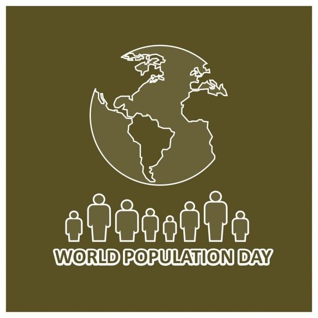 Fondo del día mundial de la población vector gratuito