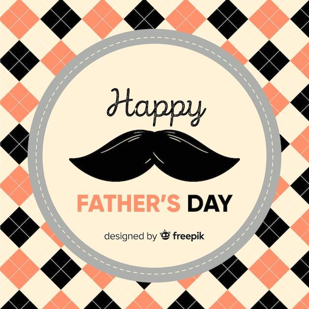 Fondo del día del padre dibujado a mano vector gratuito