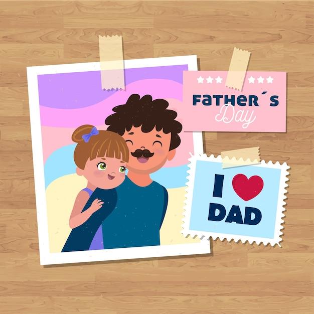 Fondo del día del padre vector gratuito