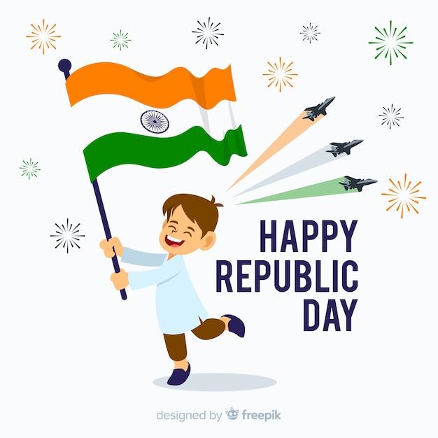 Fondo del día de la república de india vector gratuito