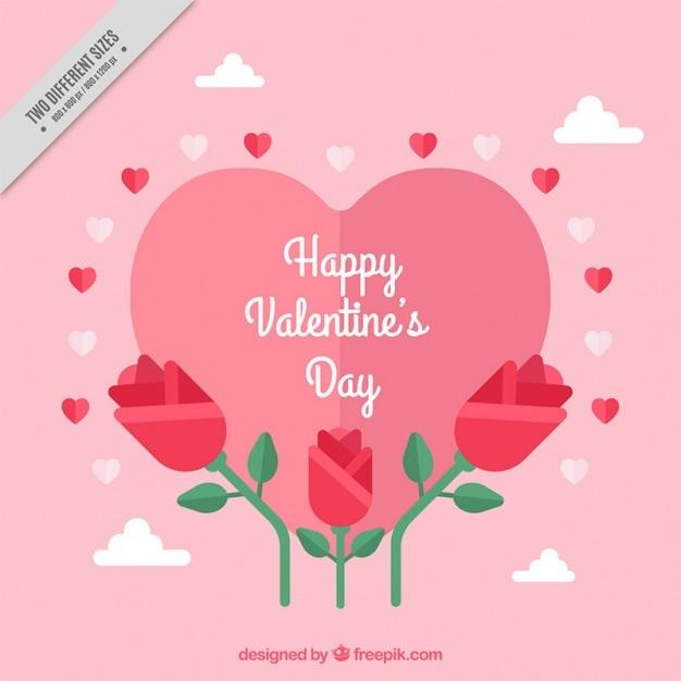 Fondo Del Día De San Valentín Con Flores Bonitas Descargar