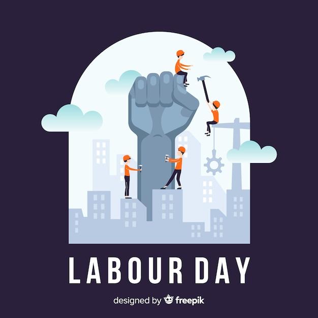 Fondo del día del trabajador vector gratuito