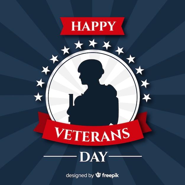 Fondo del día del veterano vector gratuito