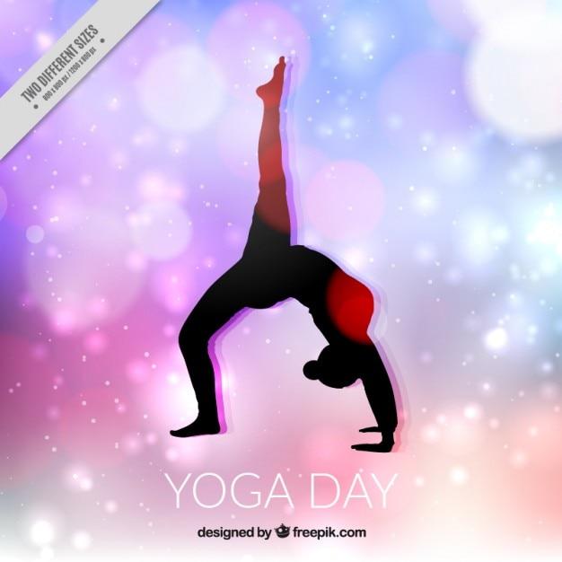 Fondo del día del yoga vector gratuito