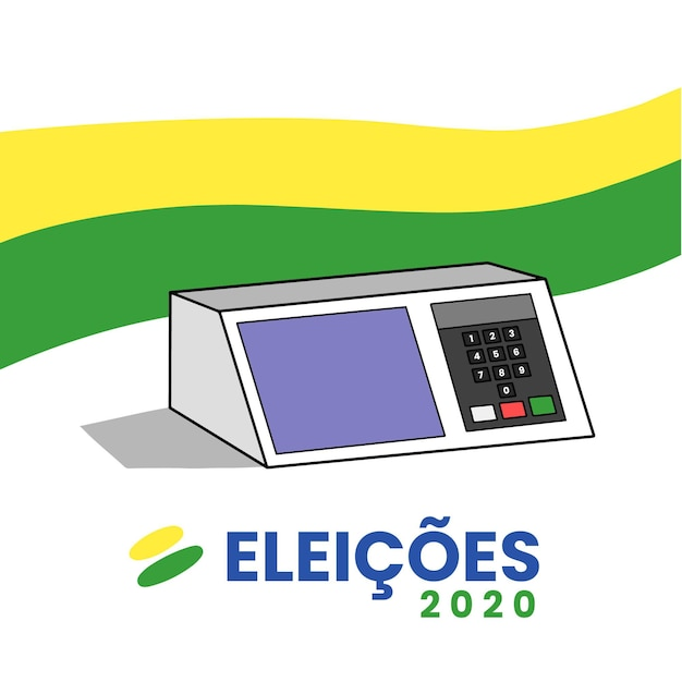Fondo dibujado a mano eleições 2020 Vector Premium