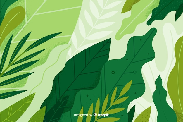 Fondo dibujado a mano vegetación abstracta vector gratuito