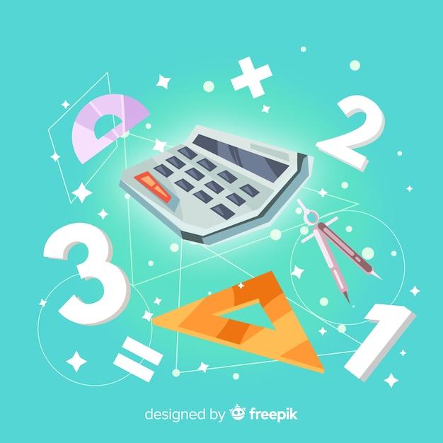 Fondo dibujos animados concepto matemáticas vector gratuito