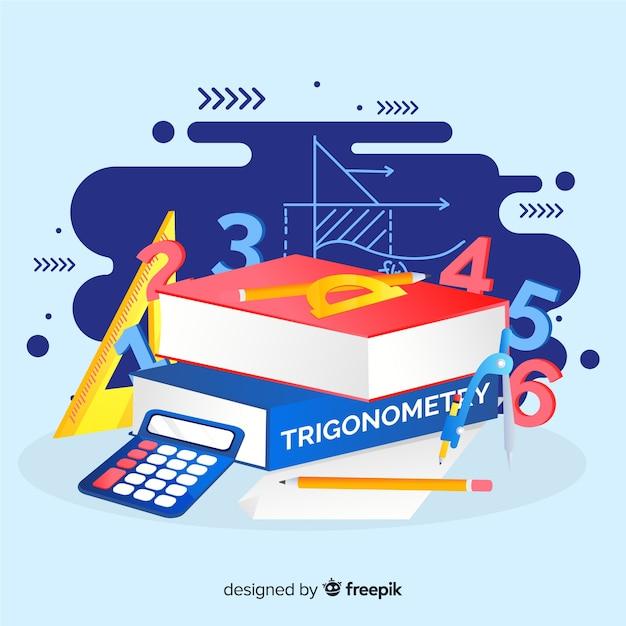Fondo dibujos animados elementos matemáticas vector gratuito