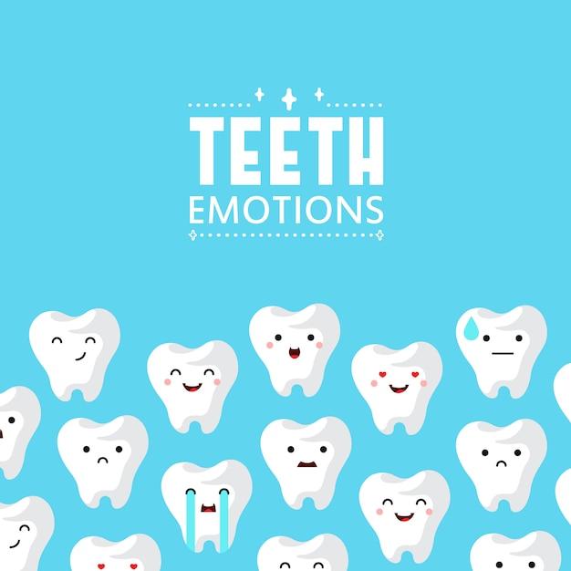 Fondo de dientes de clínica dental. vector gratuito