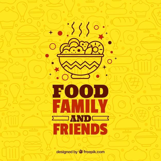 Fondo con diferentes comidas vector gratuito