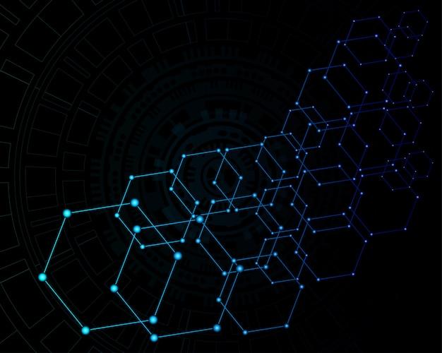 Fondo digital de tecnología abstracta Vector Premium