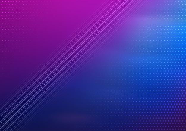 Fondo de diseño abstracto con degradado azul y morado vector gratuito