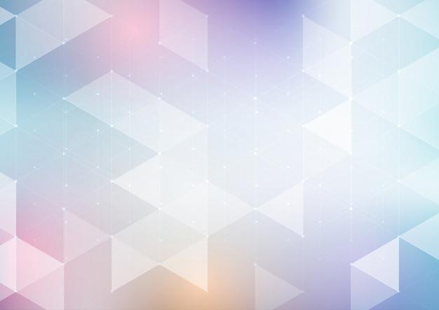 Fondo de diseño abstracto bajo poli Vector Premium