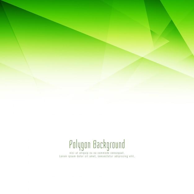 Fondo de diseño abstracto polígono verde vector gratuito