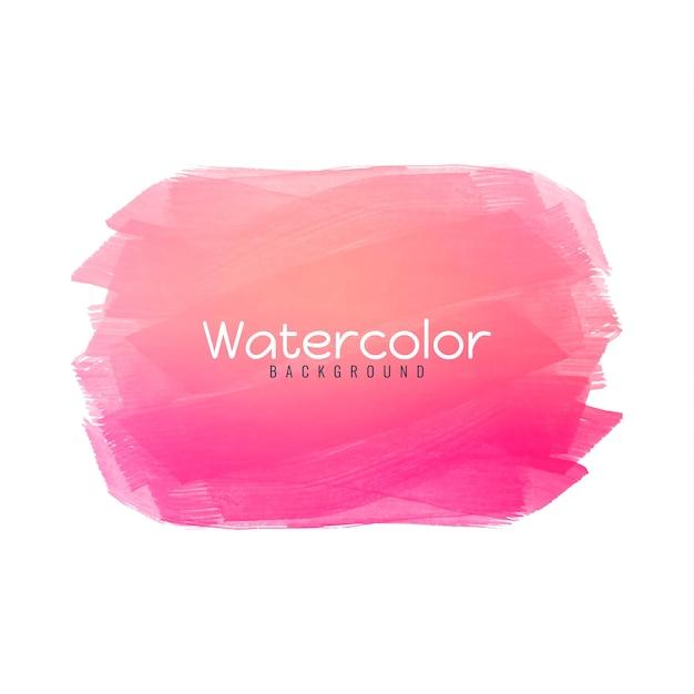 Fondo de diseño de acuarela rosa vector gratuito