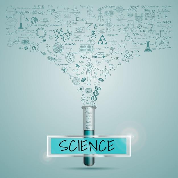 Fondo con diseño de ciencia vector gratuito